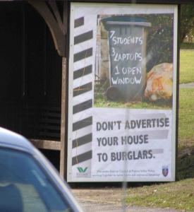 Wycombe District Council in partnership with the Thames Valley Police - Reduce Burglary campaign