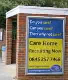 Heritage Care - Local Care Home Recruitment 6 sheet poster on Out and About Advertising Ltd poster site - First Enquiry received within an hour of displaying the poster.