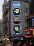 Leicester Sq - Special Landmark Neon display developed by Garry with Express Planning Consent - click on image to see full size