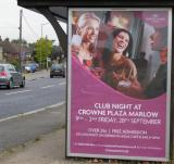 Crowen Plaza Hotel Marlow Club Night Poster