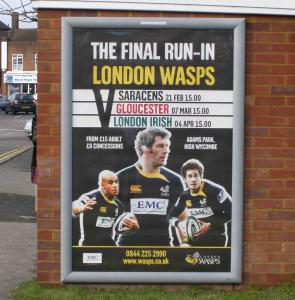 London WASPS - promoting their next 3 games
