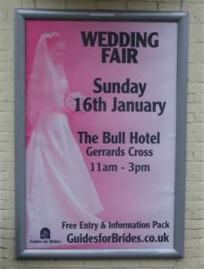 Wedding Fair Poster for the Bull Hotel Gerrards Cross
