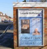 Labelle Bathrooms - 6 sheet Poster designed by Garry and displayed on an Out and About Advertising Ltd poster site - (click on image for full size)