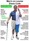 Golf Club Dress Code Poster On Course