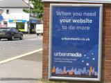Urban Media of High Wycombe - Creating Advantage Through Technology - displayed at Hazlemere Cross Roads